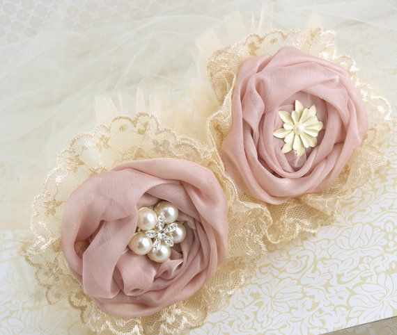 Bridesmaids Brooch Bouquet in Ivory Dusty Rose and by SolBijou