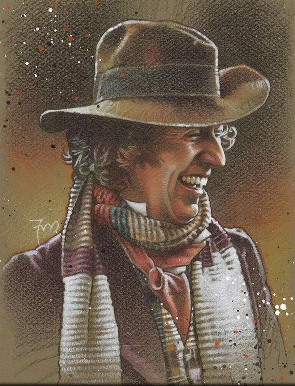 DW Art,Doctor Who,Доктор кто, DW,фэндомы,4 Доктор,четвертый доктор,Доктор (DW),Таймлорды,Traditional art,красивые картинки,PortraitsByAlan