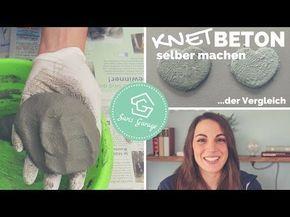 (42) Knetbeton selber herstellen - Rezept - Vergleich mit dem Original - Beton selber machen DIY - YouTube