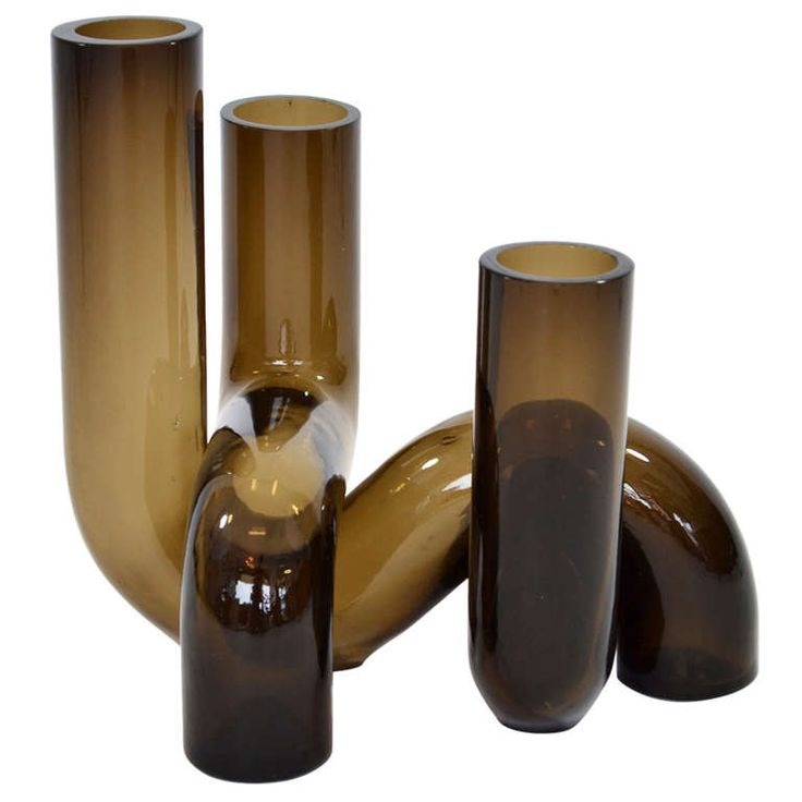 Modernist Tubular Swedish Glass Vase 1960's | From a unique collection of antique and modern vases at http://www.1stdibs.com/furniture/dining-entertaining/vases/