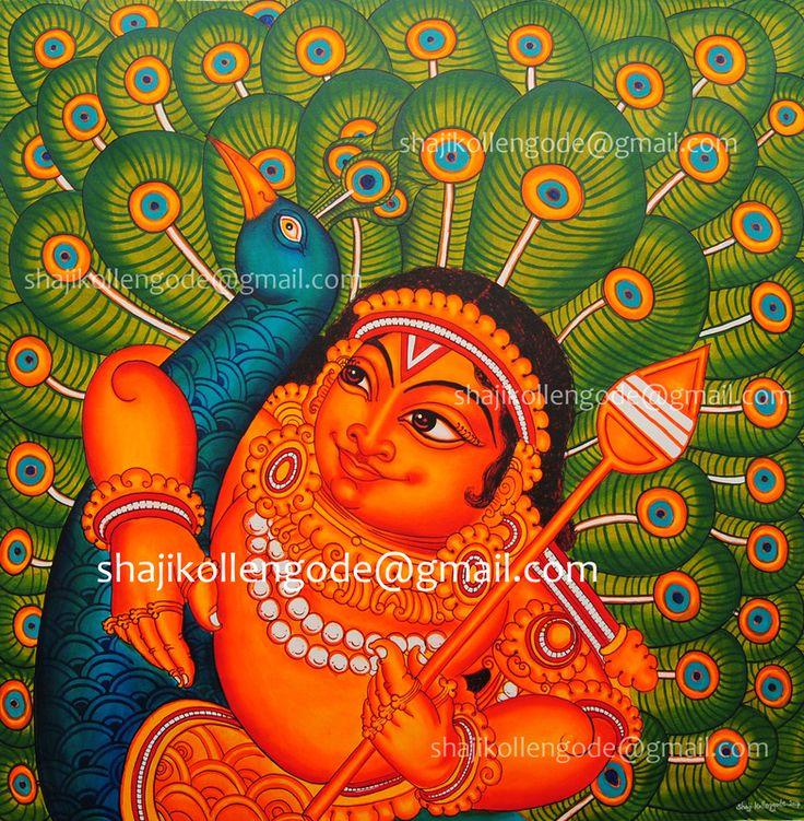853 best kerala mural art images on pinterest for Easy mural painting