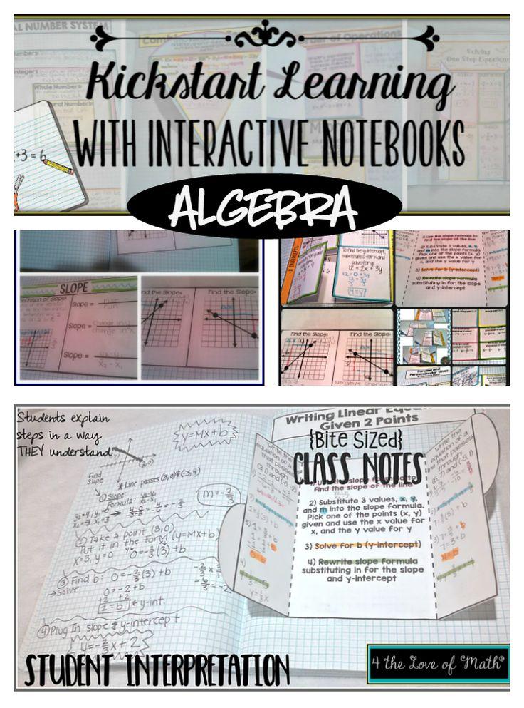 Using Interactive Notebooks in Algebra