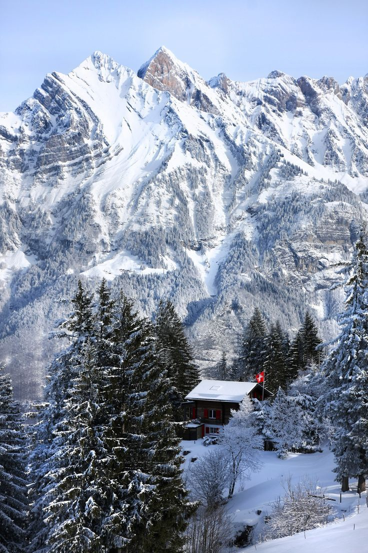 Swiss Chalet - Flumserberg SG - I don't ski or anything, but I'd sure enjoy a view like that.