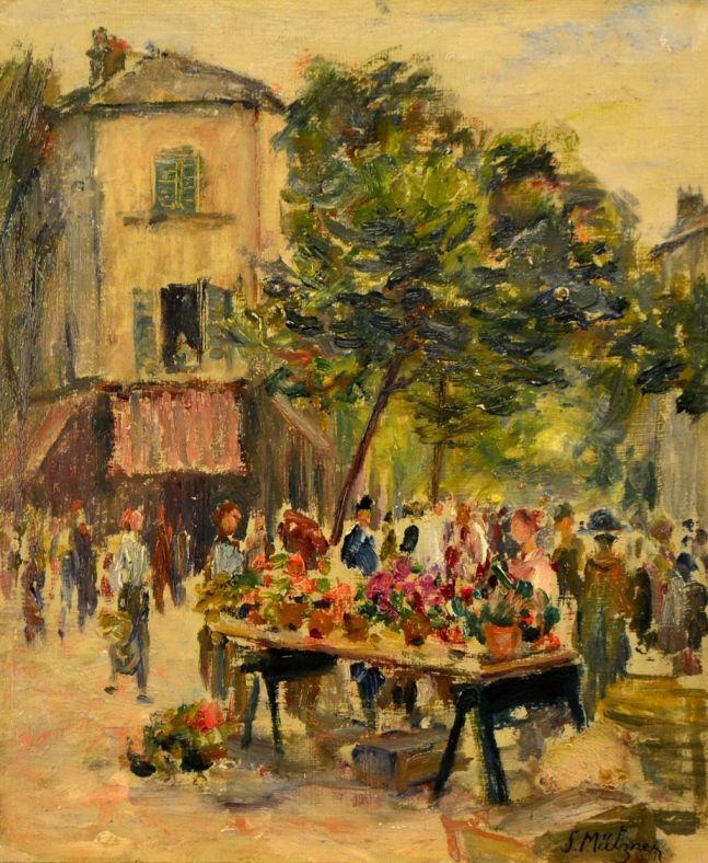 Samuel Mutzner - Piața de flori