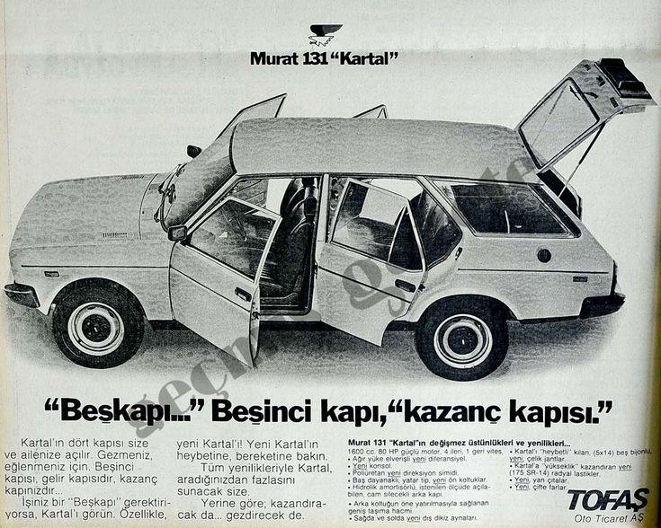 Fiat 131 SW - Tofaş Murat 131 Kartal Turkish Ad