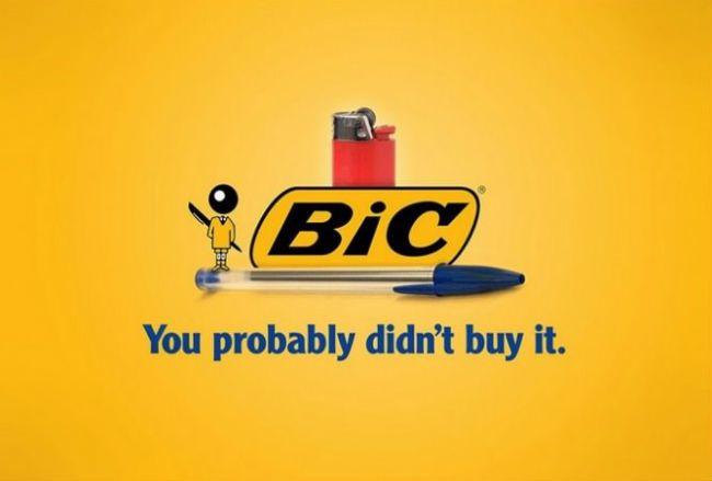 Bic. Brutally Honest Brand Name Slogans – BoredBug