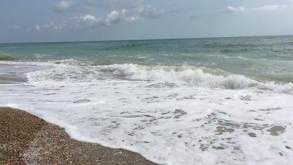Adriatic sea front of the Sentina Natural Regional Reserve, Marche Region, Italy