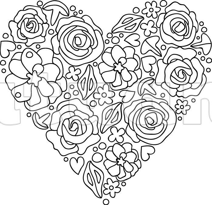 Květinové srdce - malé - Katuan's