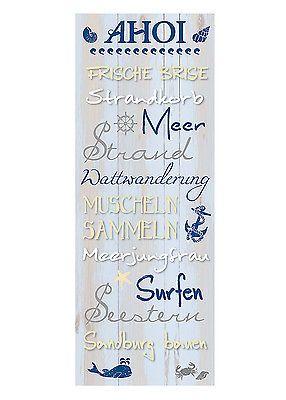 Wandschild Dekoschild Maritim AHOI Schild Sprüche Vintage Shabby Chic in Möbel & Wohnen, Dekoration, Schilder & Tafeln | eBay!