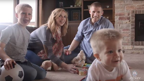 Jordy Nelson and his family. Recently Jordy and his wife adopted a little boy named Brooks.