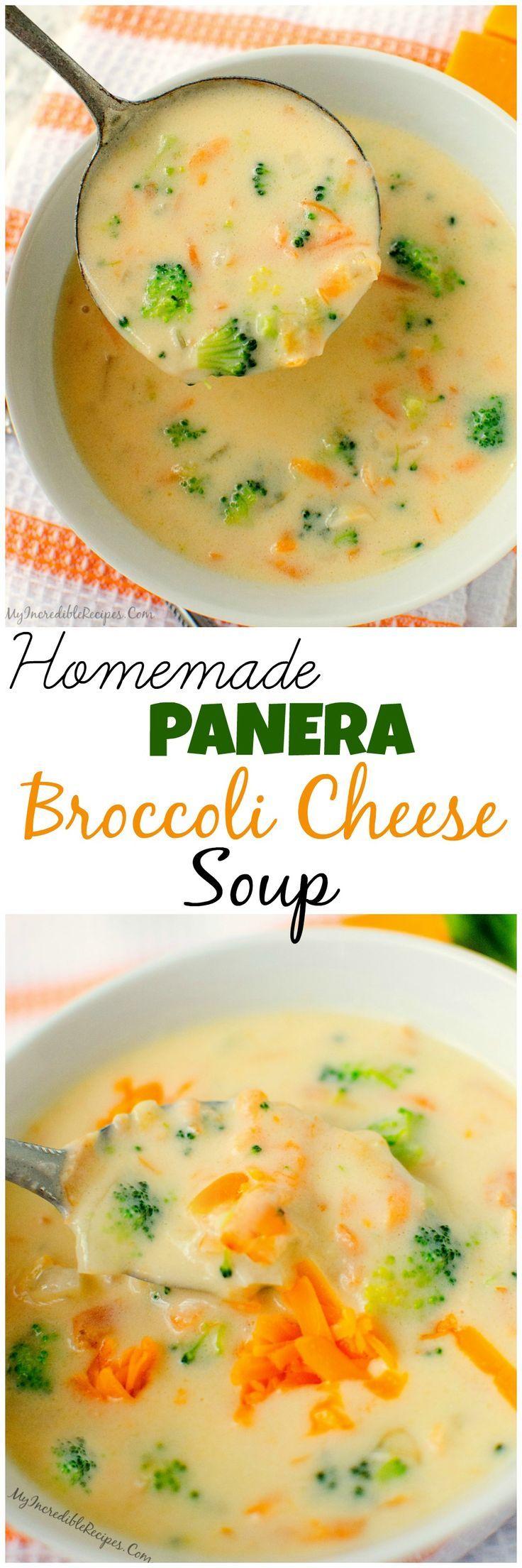 Homemade Panera Broccoli Cheese Soup!