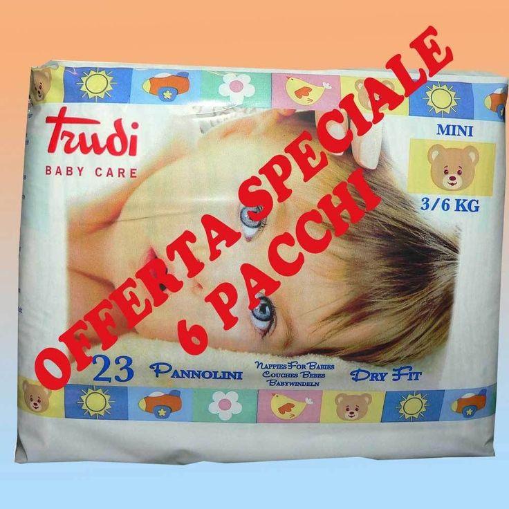 Pannolini Trudi Baby Care Dry Fit 3-6 Kg - 6 confezioni, 138 pezzi