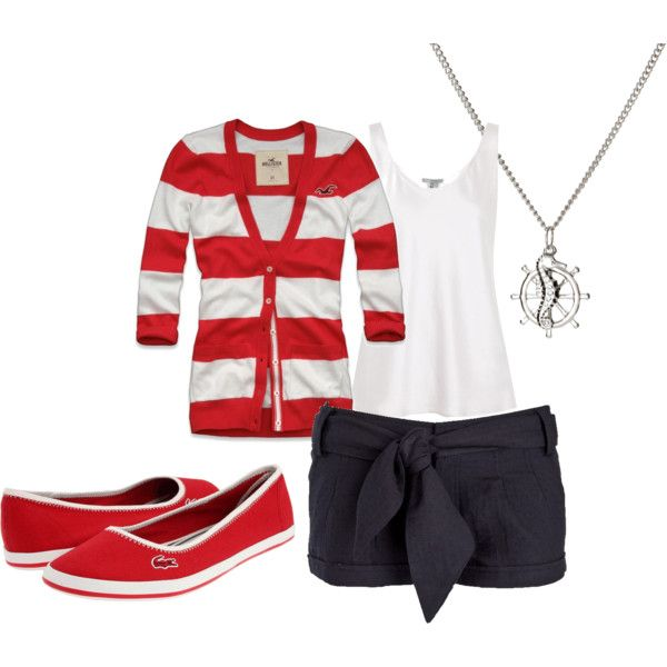 Summer Sailing Outfit, created by aliciamcphail on Polyvore