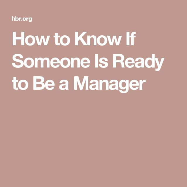 89 best managing people images on pinterest managing people how to know if someone is ready to be a manager fandeluxe Choice Image
