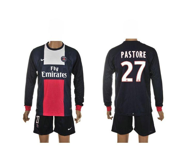 Maillot de Foot Psg (27 Pastore) Domicile Manche Longue Nike Collection 2013 2014 bleu Pas Cher http://www.korsel.net/maillot-de-foot-psg-27-pastore-domicile-manche-longue-nike-collection-2013-2014-bleu-pas-cher-p-2459.html
