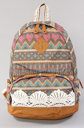 Tribal and Lace Backpack #BTS2012