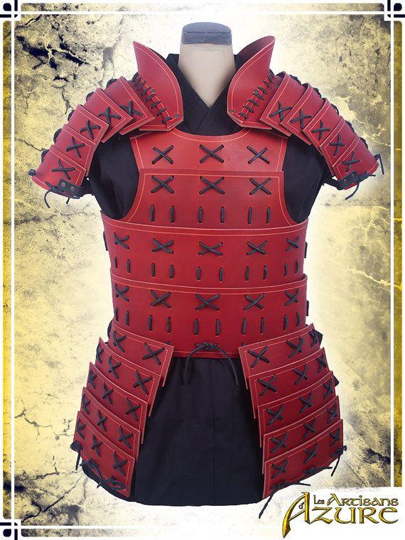 Samurai armadura con hombreras por ArtisansdAzure en Etsy