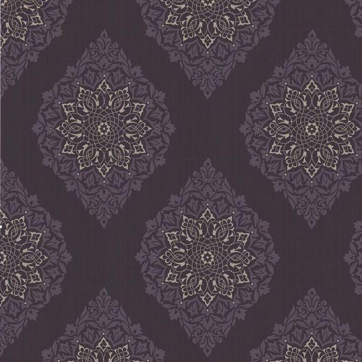 graham brown 56 sq ft tattoo purple wallpaper 30 414