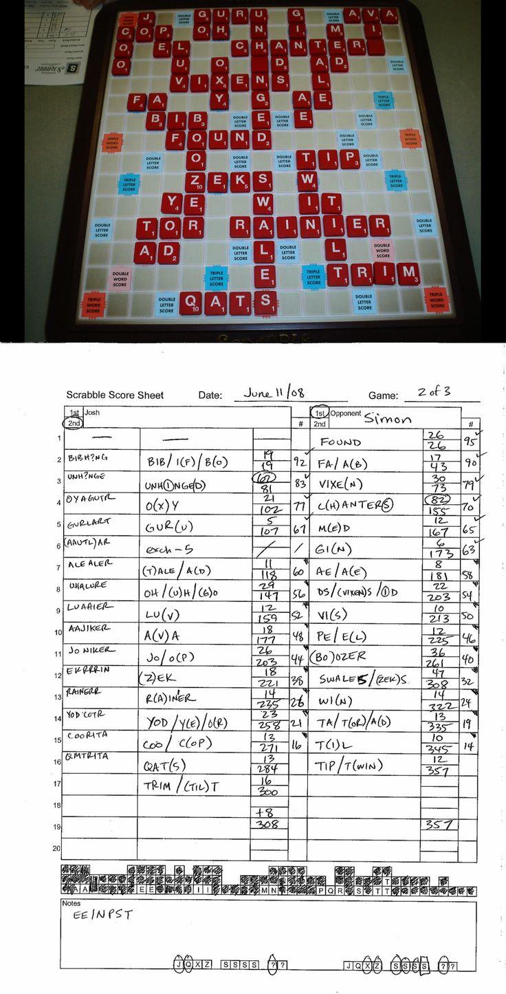 Game  Simon  Loss  Scrabble  JoshS