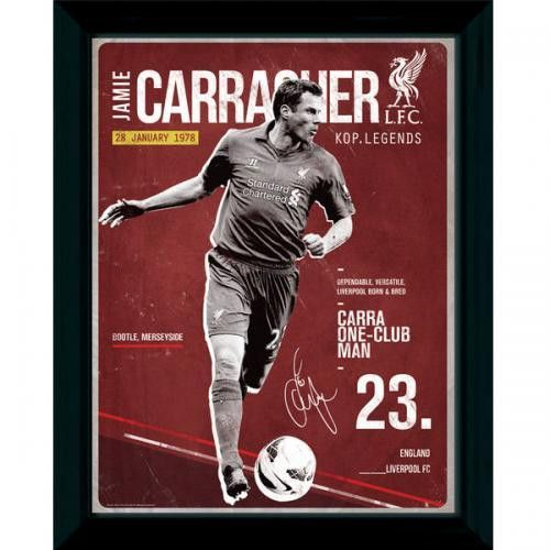 Jamie Carragher is arguably Liverpool's best ever defender. He was also born in Liverpool making him a hometown favorite.
