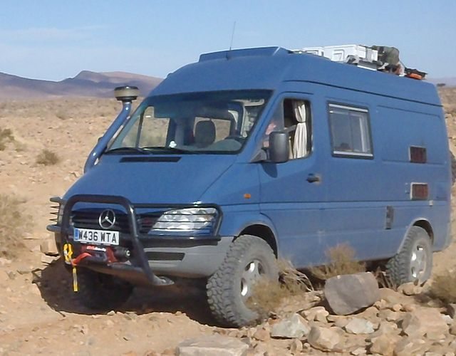 Lucy and rory macdiarmid 39 s 4x4 sprinter they took across for Mercedes benz sprinter 4x4 motorhome