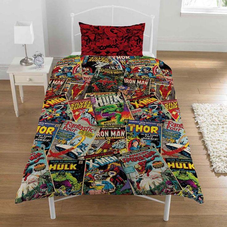 Marvel Comics Super Heroes Single Bed DOONA Quilt Cover