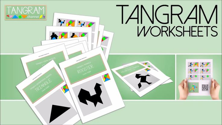 This book series provides teachers with the biggest collection of worksheets dedicated to the Tangram.  The printable worksheets offer amusing figures to be reconstructed, divided into 7 categories, which your students will discover with interest.  Geometrical shapes Letters, Numbers & Signs People Animals Usual objects Boats Miscellaneous   In each book, you will find: - 84 worksheets to print - 7 divider sheets - 2 Tangram sets