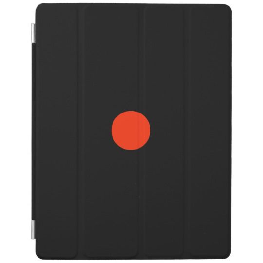 Red dot with black backgroud - geometric design iPad smart cover