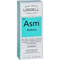 Liddell Homeopathic Asthma Asm Oral Spray 1 oz   Homeopathic Remedy For AsthmannNatural relief - no negative side effects! We know that the breathing difficulties and congestion can make your life seem unbeara