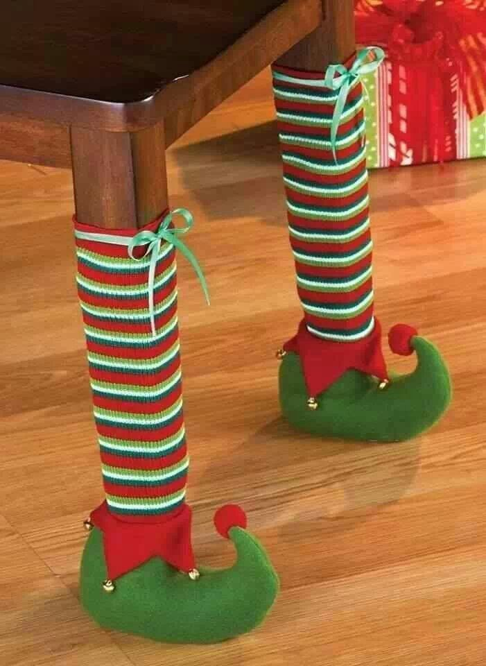 This is stinkin' cute!!! Elf table legs!