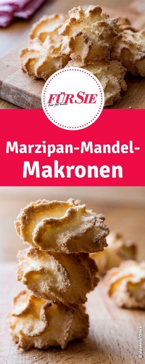 Rezept für Weihnachtsplätzchen - Marzipan-Mandel-Makronen