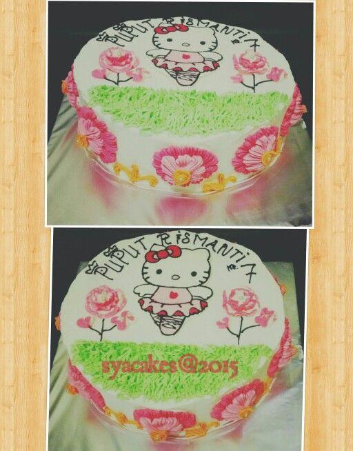 Simple Birthday cake hello kitty