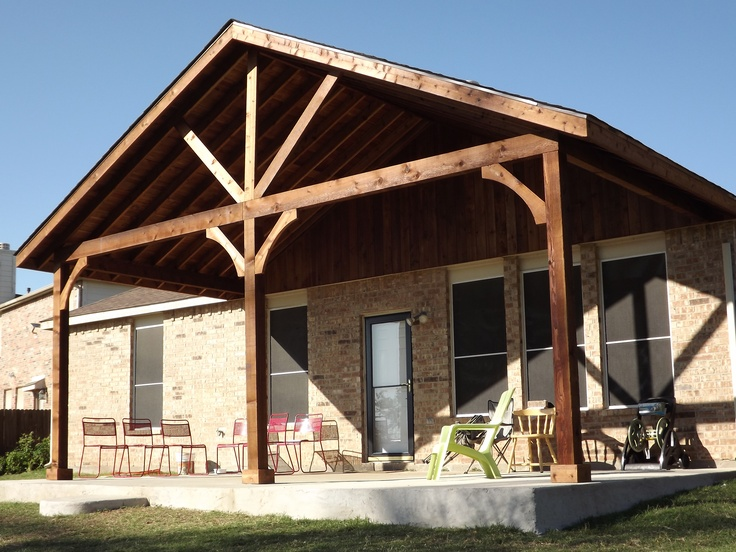 28 best images about open gable patio ideas on pinterest for Open porch roof designs
