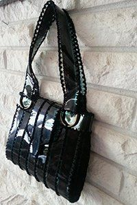 Stunning Melbourne #handbag made from #recycled 35mm polyester #film from #movie reels http://www.dejabags.net/bags.html