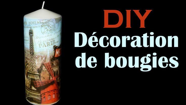 Comment décorer des bougies - DIY customiser vos bougies (Tuto facile). Voici une astuce géniale pour customiser n'importe quelle bougie grâce à une technique ultra simple. Pour cela, vous n'avez besoin que d'une bougie, une serviette en papier ou du papier de soie dont vous aimez le motif et une cuillère. Vous obtiendrez une bougie décorée, pour trois fois rien, très simple à réaliser et une idée cadeau originale et personnalisée à offrir pour toutes les occasions.
