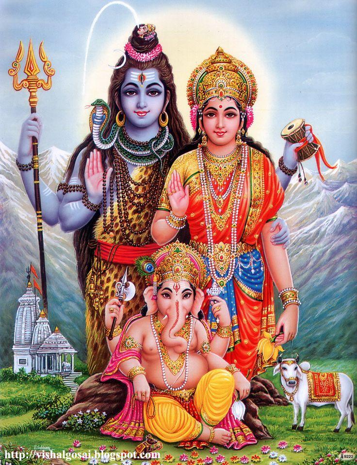 ganesh shiva parvati   ... rigolos et leurs tridents, les Sadhus sont des adeptes de Shiva