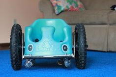 How to make a bumbo wheelchair. A great idea to promote independent mobility  and exploration of environment in young children with special needs ,