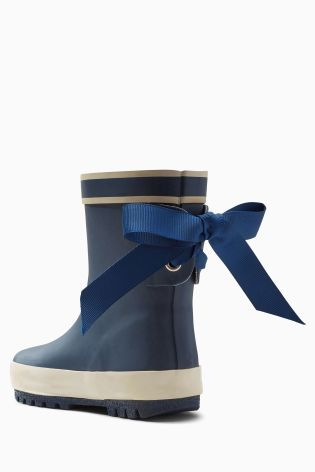 Buy Navy Bow Wellies (Younger Girls) from the Next UK online shop