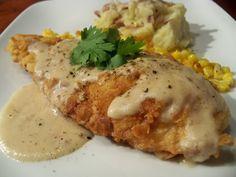 Chicken Fried Chicken with White Pepper Gravy a la Cracker Barrel