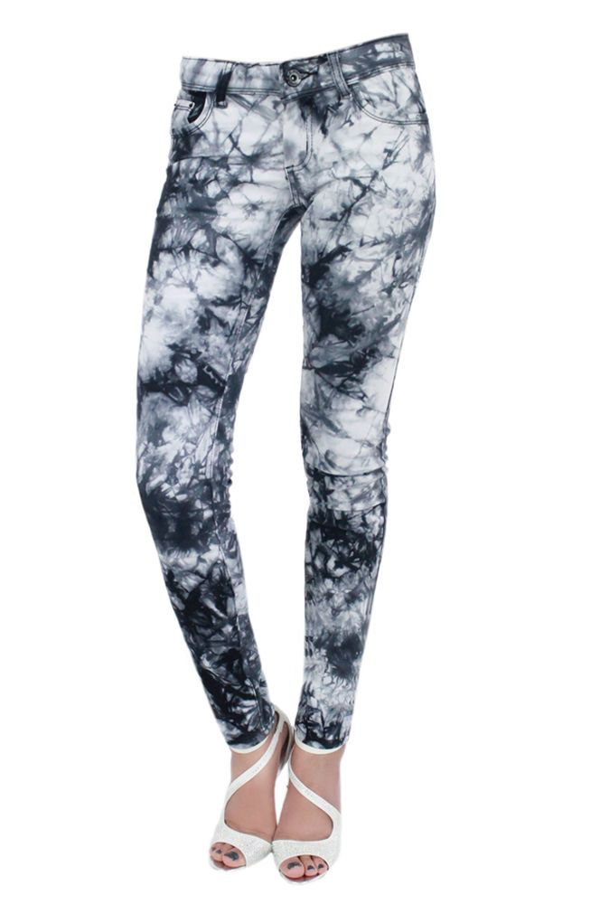 New Womens Slim Fit Skinny Tie And Dye Jeans Ladies Skinny Trouser Jeans UK 8-14
