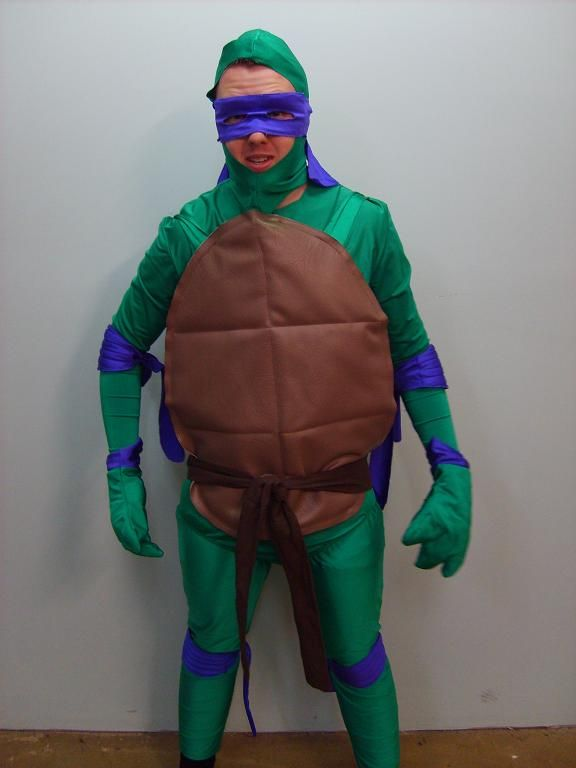 Teenage Mutant Ninja Turtles (1987) available to hire in the four colours sizes small, medium, and large