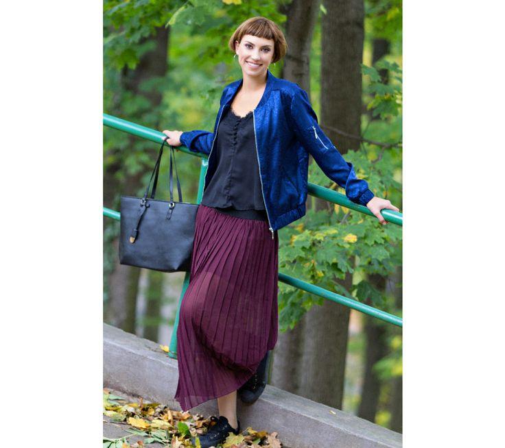 Polodlouhá plisovaná sukně | modino.cz #modino_sk #modino_style #style #fashion #newseason #autumn #fall