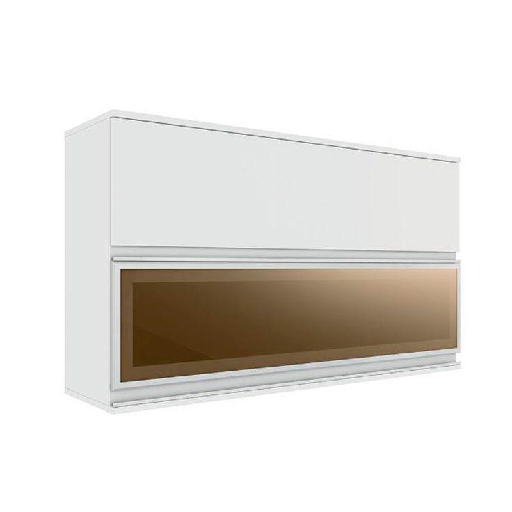 Armario de Parede Horizontal Itatiaia Belissima Plus 2 Porta sendo 1 com Vidro Branco