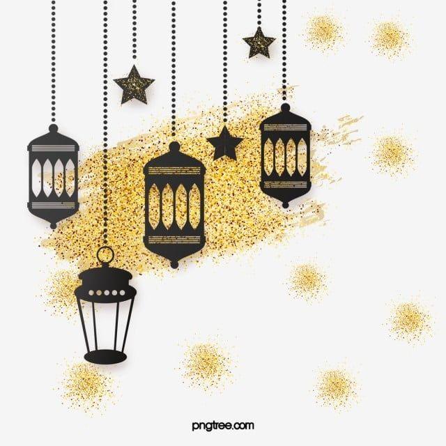 Black Gold Luxury Lantern Gold Glitter Stars Border Ramadan Moon Muslim Png Transparent Clipart Image And Psd File For Free Download Gold Glitter Stars Clip Art Borders Mandala Background