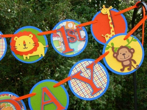 Jungle Fun Boys Birthday Banner