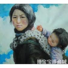 """Painting """"Su-Zhis-mother"""""""