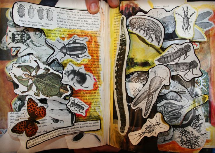 Altered book. Saara Kartimo. HAMK Crafts and Recreation.