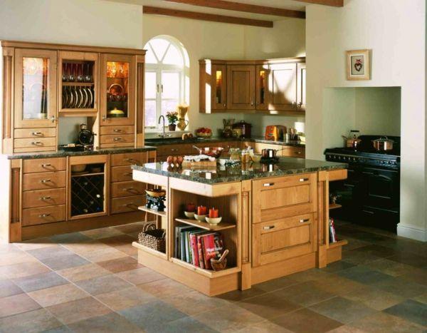 Die 25+ besten Ideen zu Kücheneinrichtung mit kochinsel auf ... | {Küche mit kochinsel landhaus 77}