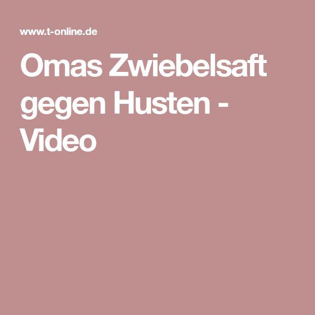 Omas Zwiebelsaft gegen Husten - Video
