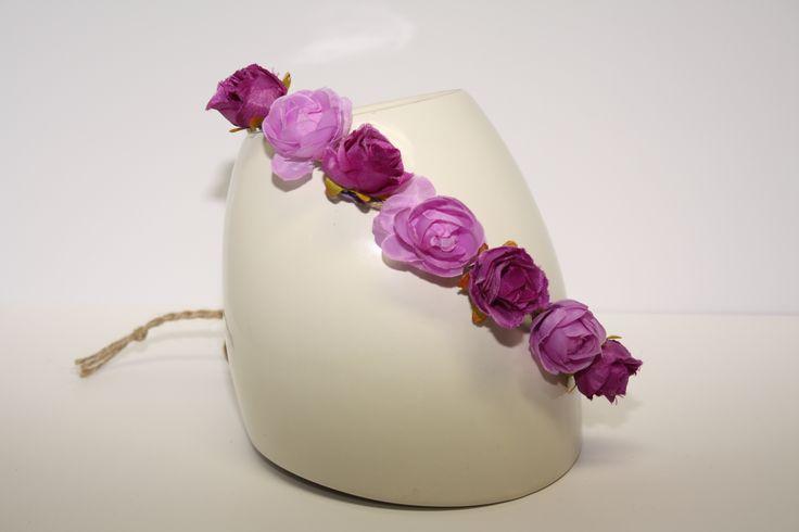 Purple Floral Head Piece